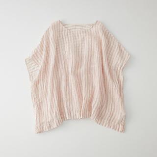 ネストローブ(nest Robe)のリネンガーゼストライプ2wayプルオーバー(シャツ/ブラウス(半袖/袖なし))