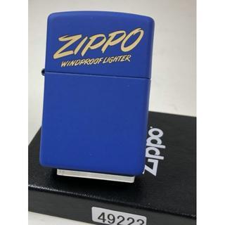 ジッポー(ZIPPO)の2020 Zippo イタリックロゴ/ロイヤルマット・ブルー #49223(タバコグッズ)