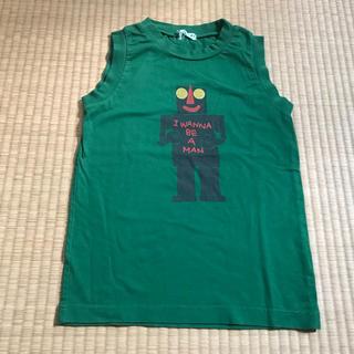 ハッカキッズ(hakka kids)のハッカキッズ★ロボットタンクトップ140グリーン美品(Tシャツ/カットソー)