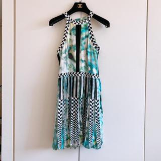 PARKER パーカー シルク ジオメトリック柄 ワンピース ドレス
