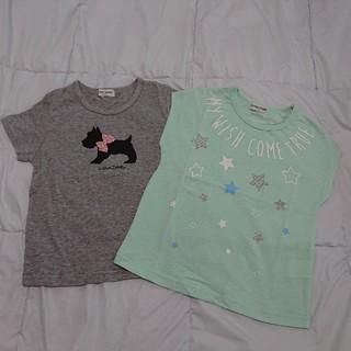 クラウンバンビ(CROWN BANBY)の【未使用品】クラウンバンビ  半袖Tシャツ2枚セット  120(Tシャツ/カットソー)