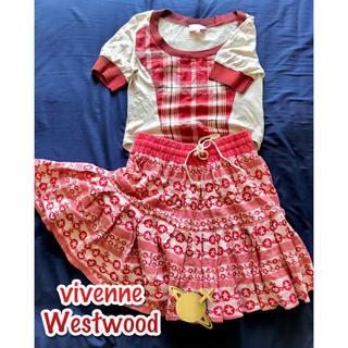 ヴィヴィアンウエストウッド(Vivienne Westwood)の【レア 激安】vivienneスカート(ひざ丈スカート)