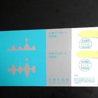 オリックスバファローズ(オリックス・バファローズ)の京都水族館年間パスポート引き換え券 2枚(水族館)