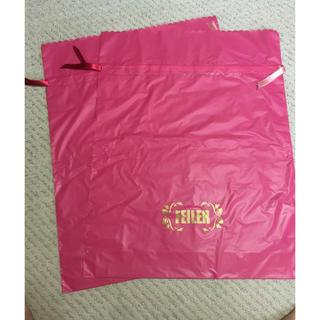 フェイラー(FEILER)のフェイラー 特大ショッパー ピンク サテンリボン付き FEILER プレゼント袋(ショップ袋)