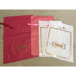 フェイラー(FEILER)のフェイラー ショッパー 3種類 4枚セット FEILER プレゼント袋(ショップ袋)