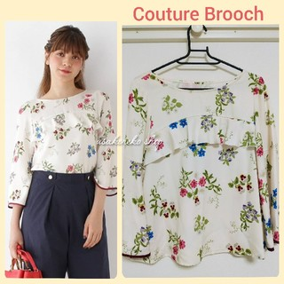 クチュールブローチ(Couture Brooch)のクチュールブローチ ボタニカルプリントブラウス(シャツ/ブラウス(長袖/七分))
