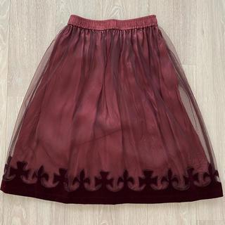 ジェーンマープル(JaneMarple)のJane Marple♡王冠フロッキースカート(ひざ丈スカート)