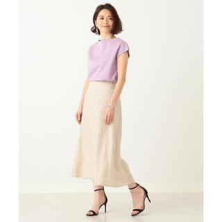 デミルクスビームス(Demi-Luxe BEAMS)のDemi-Luxe BEAMS リネンフィット&フレアスカート(ひざ丈スカート)