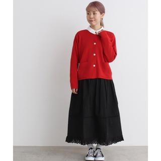 シャンブルドゥシャーム(chambre de charme)のMalle  ブロード 裾レーススカート(ロングスカート)