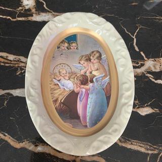 ビーカンパニー(B-COMPANY)の天使 マリア様 キリスト インテリア 壁掛け アンティーク ロココ お皿 新品(インテリア雑貨)