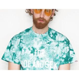 ハイドアンドシーク(HIDE AND SEEK)のHIDE AND SEEK ハイドアンドシーク タイダイ Tシャツ グリーン M(Tシャツ/カットソー(半袖/袖なし))