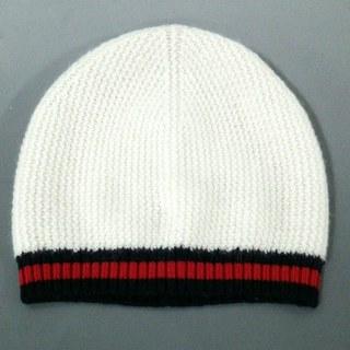 グッチ(Gucci)のグッチ ニット帽 M美品  436802 カシミヤ(ニット帽/ビーニー)