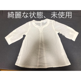 白トップスMサイズ真夏(カットソー(半袖/袖なし))