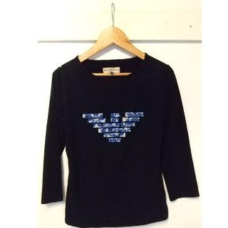 エンポリオアルマーニ(Emporio Armani)のEMPORIO ARMANI エンポリオ・アルマーニ 黒色 Tシャツ イタリア製(Tシャツ/カットソー(七分/長袖))