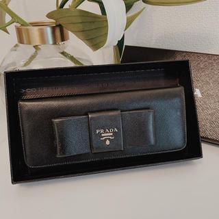 プラダ(PRADA)のPRADA サフィアーノ リボン 財布(長財布)