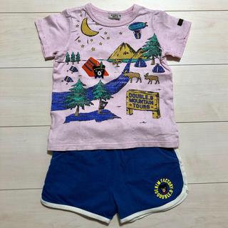 ダブルビー(DOUBLE.B)のDOBLE.B ダブルB キャンプB君Tシャツ ショートパンツ 100cm(Tシャツ/カットソー)