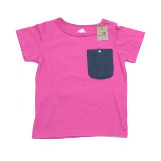 チャムス(CHUMS)のSUGARGLIDER KID'S Tシャツネオンピンク 110(Tシャツ/カットソー)