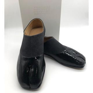 マルタンマルジェラ(Maison Martin Margiela)のマルタンマルジェラ ブラック&グレー足袋ブーツ(ドレス/ビジネス)