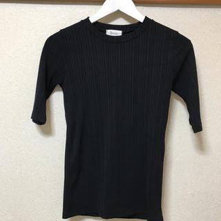 ゴゴシング(GOGOSING)のgogosing  レディース  ブラック カットソー(カットソー(半袖/袖なし))