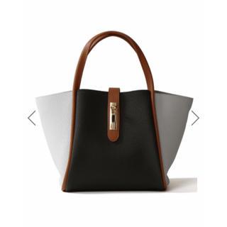 グレイル(GRL)のGRL 配色レザートートバッグ ブラック 黒 新作 ショルダーバッグ 2way(ハンドバッグ)