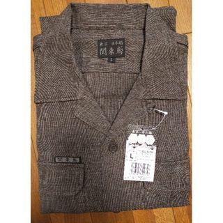 寅壱 - 関東鳶 8300-OP-200 オープンシャツ ブラウン L 鳶 作業着 作業服