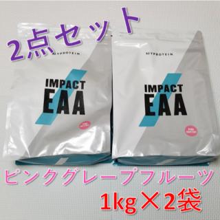マイプロテイン(MYPROTEIN)の【未開封】インパクト EAA ピンクグレープフルーツ 1kg 2袋(その他)