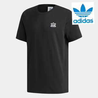 アディダス(adidas)の【新品】アディダスオリジナルス Tシャツ サイズO(XL)ワッペン ブラック(Tシャツ/カットソー(半袖/袖なし))