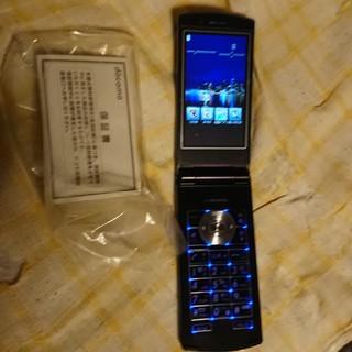 エヌイーシー(NEC)のドコモ Foma ガラケー N-01E black 未使用品(携帯電話本体)
