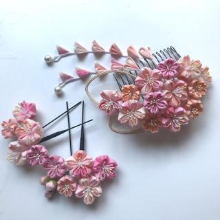 つまみ細工 髪飾り 桜舞(ヘアアクセサリー)