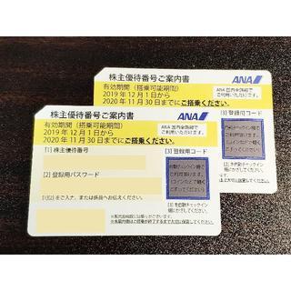 ANA 株主優待券 2枚 来年5月31日まで(表記は11月30日まで)(航空券)