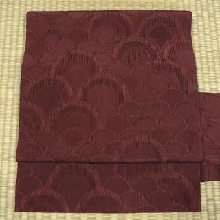 渋い紫色の変わり織り 名古屋帯(帯)