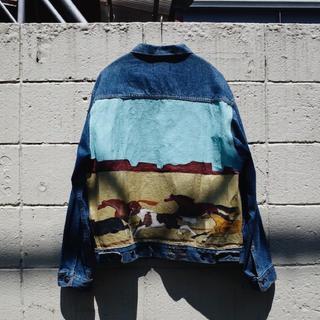 アメリヴィンテージ(Ameri VINTAGE)の80's Vintage Hand painted denim jacket(Gジャン/デニムジャケット)