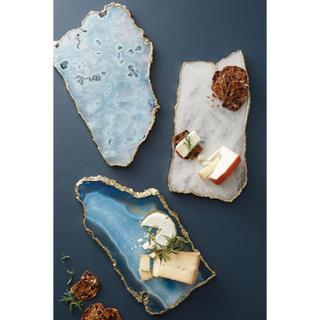 アンソロポロジー(Anthropologie)のアンソロポロジー チーズボード アクセサリートレー 天然石 ブルークォーツ(食器)