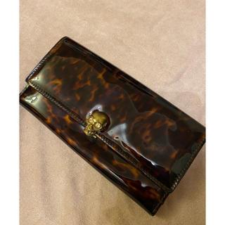 アレキサンダーマックイーン(Alexander McQueen)のAlexander McQUEEN 財布  レア品 エナメル長財布 スカル 中古(財布)