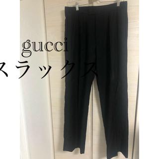 グッチ(Gucci)のgucci ワイドスラックス イタリア製 正規品 サイドライン ブラック (スラックス)