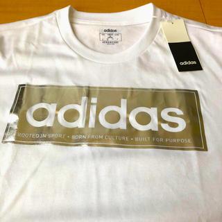 アディダス(adidas)の【新品】adidas Tシャツ アディダス  ホワイト シルバー タグ付❗️LL(Tシャツ/カットソー(半袖/袖なし))
