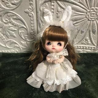 白うさワンピセット(人形)