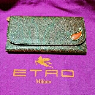 エトロ(ETRO)のETRO エトロ 長財布 美品 ペイズリー柄 レザー製(財布)