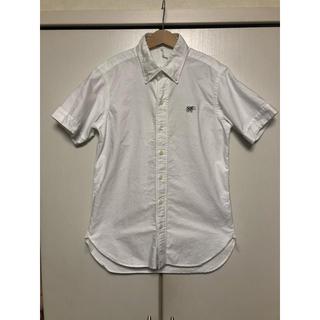 サイ(Scye)のSCYE BASICS  サイベーシックス 半袖ボタンダウンシャツ 白(シャツ/ブラウス(半袖/袖なし))