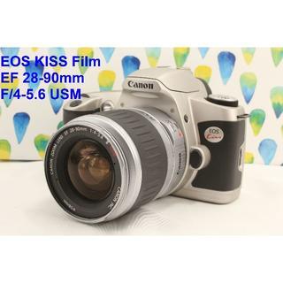 キヤノン(Canon)の美品 動作品 Canon EOS Kiss ズームレンズセット(フィルムカメラ)