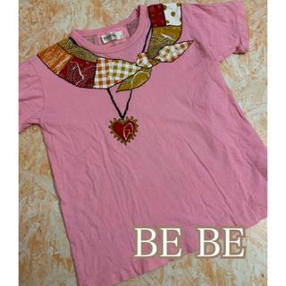ベベ(BeBe)のBEBE騙し絵Tシャツ(Tシャツ/カットソー)