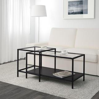 イケア(IKEA)のガラステーブル センターテーブル IKEA(ローテーブル)