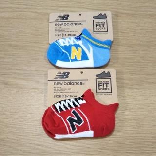 ニューバランス(New Balance)の◎No.35 ニューバランス スニーカー柄ソックス 2足組 13~19cm(靴下/タイツ)