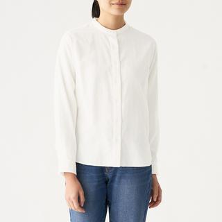 ムジルシリョウヒン(MUJI (無印良品))の無印良品 スタンドカラーシャツ 婦人 Mサイズ(シャツ/ブラウス(長袖/七分))