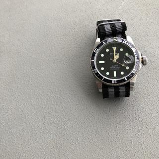 ブローバ(Bulova)のブローバ ダイバー腕時計 縁無し夜光クォーツ時計 ダイバーズヴィンテージ 80s(腕時計(アナログ))