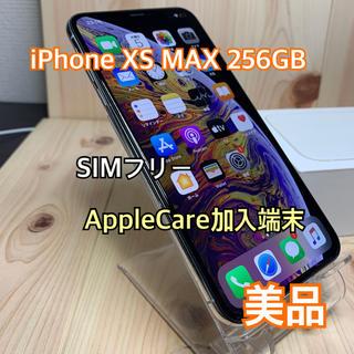 アップル(Apple)の【B】【美品】①ケア加入 iPhone XS MAX 256GB Silver (スマートフォン本体)