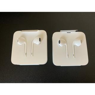 アップル(Apple)のiphone 純正イヤホン2個セット(ヘッドフォン/イヤフォン)