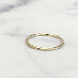 オーロラグラン(AURORA GRAN)の美品 AURORA GRAN オーロラグラン K10 プレーンリング(リング(指輪))