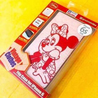 ミッキーマウス(ミッキーマウス)のiPhone 6s/6 スウェットフリップケース ミニー(iPhoneケース)