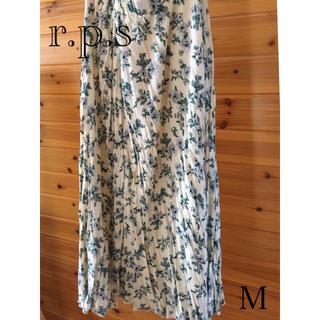 アルピーエス(rps)のr.p.s 花柄ロングスカート sizeM(ロングスカート)